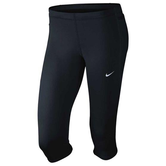 90e9d1cac8349 Nike Womens Tech Capri Tights Black XS, Black, rebel_hi-res