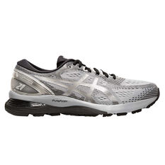 Asics GEL-Nimbus 21 Platinum Mens Running Shoes Blue / Silver US 7, Blue / Silver, rebel_hi-res