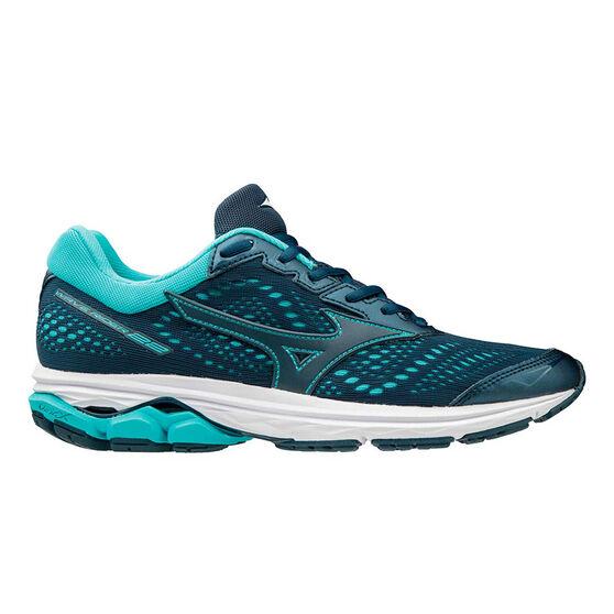 Mizuno Wave Rider 22 Womens Running Shoes, Navy / Blue, rebel_hi-res