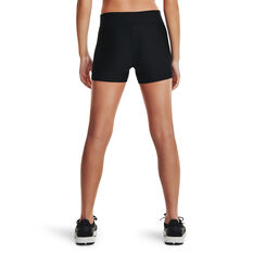 Under Armour Womens HeatGear Armour Shorty Shorts Black XS, Black, rebel_hi-res