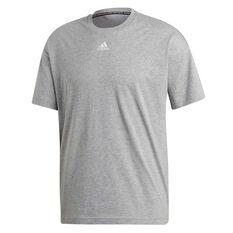 adidas Mens Must Haves 3 Stripes Tee Grey XS, Grey, rebel_hi-res