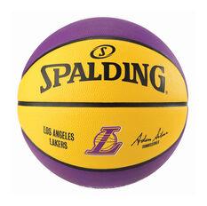 Spalding NBA Team Series Los Angeles Lakers Basketball Purple / Yellow 6, Purple / Yellow, rebel_hi-res