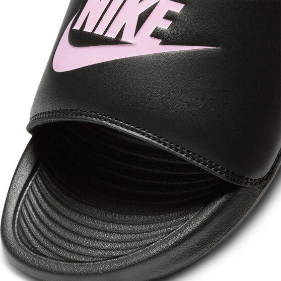 Nike Victori One Womens Slides, Black/Pink, rebel_hi-res