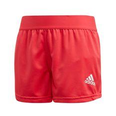 adidas Girls Aeroready Knit Shorts Pink / White 6, Pink / White, rebel_hi-res