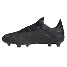 adidas X 19.1 Football Boots Black / Silver US Mens 7 / Womens 8, Black / Silver, rebel_hi-res