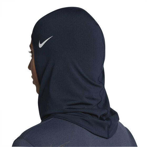 Nike Pro Womens Hijab, Black / White, rebel_hi-res