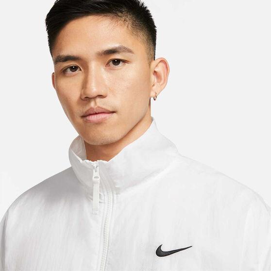 Nike Mens Basketball Jacket, White, rebel_hi-res