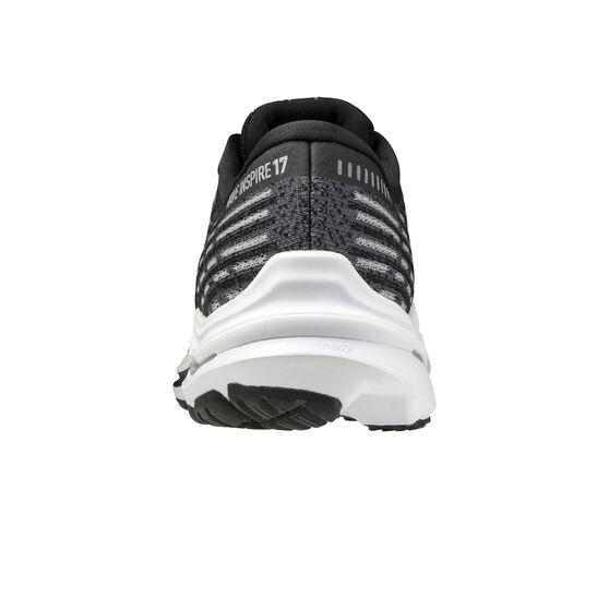Mizuno Wave Inspire 17 Waveknit 17 Mens Running Shoes, Black/Grey, rebel_hi-res