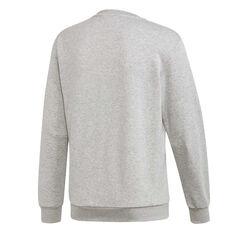 adidas Mens Must Haves Badge of Sport Sweatshirt Grey S, Grey, rebel_hi-res