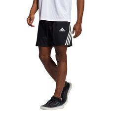adidas Mens AEROREADY 3-Stripes Shorts Black S, Black, rebel_hi-res