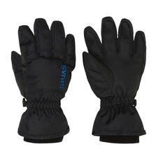 SVNT5 Kids Drop Gloves Black S, Black, rebel_hi-res