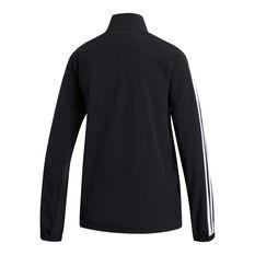 adidas Womens 3-Stripes Cover Up Jacket Black XS, Black, rebel_hi-res