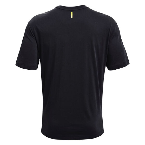 Under Armour Mens Curry Coming In Hot Tee, Black, rebel_hi-res
