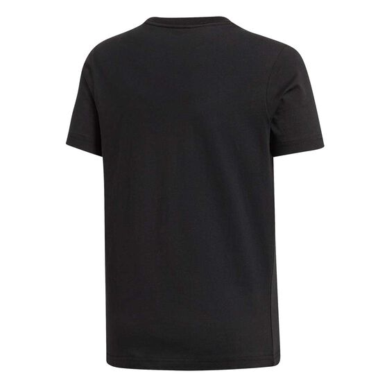 adidas Boys Essentials Linear Tee, Black / White, rebel_hi-res