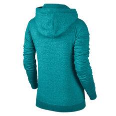 Nike Womens Sportswear Funnel Neck Hoodie Teal XS, Teal, rebel_hi-res
