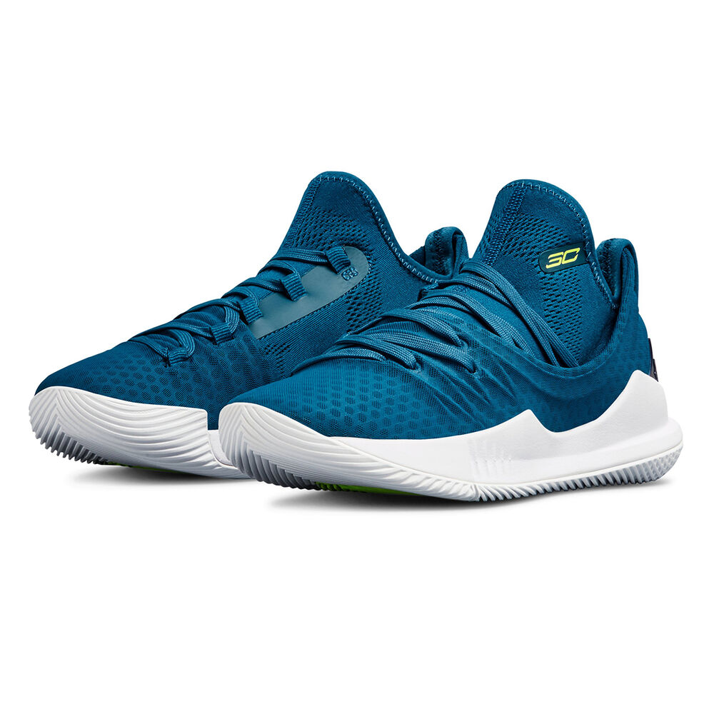6be236e621f0 Under Armour Curry 5 Kids Basketball Shoes Blue   White US 4
