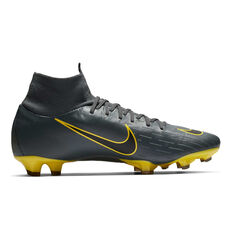 Nike Mercurial Superfly 6 Pro Mens Football Boots Grey / Black US Mens 7 / Womens 8.5, Grey / Black, rebel_hi-res