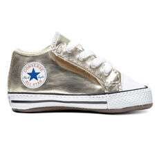 Converse Chuck Taylor All Star Metallic Cribster Toddlers Shoes Gold US 1, Gold, rebel_hi-res