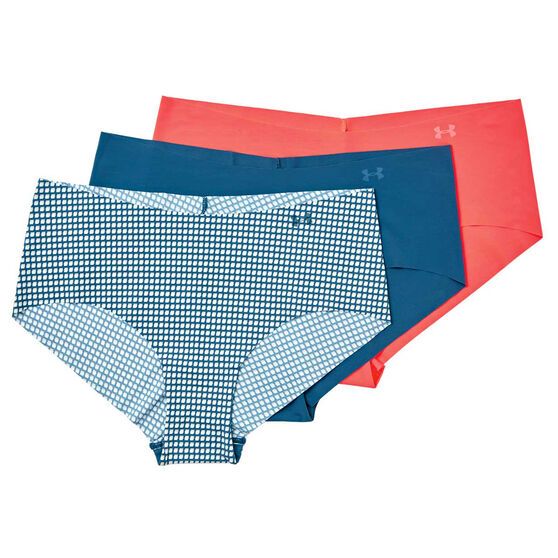 Under Armour Womens Pure Stretch Hipster Briefs 3 Pack, Multi, rebel_hi-res