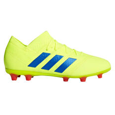 brand new c7bf7 e8e6e adidas Nemeziz 18.1 Kids Football Boots Yellow  Blue US 11, Yellow  Blue,  ...