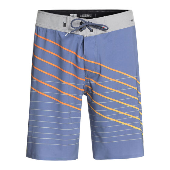 Quiksilver Mens Highline Shibori Slash 19in Boardshorts Blue 33, Blue, rebel_hi-res