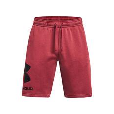 Under Armour Mens Rival Fleece Big Logo Shorts Maroon M, , rebel_hi-res