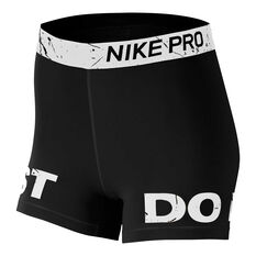 Nike Womens Pro Graphic Training Short Tights Black / White XS, Black / White, rebel_hi-res
