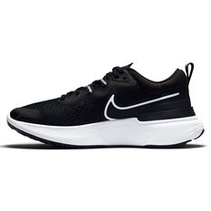 Nike React Miler 2 Womens Running Shoes Black/White US 6, Black/White, rebel_hi-res
