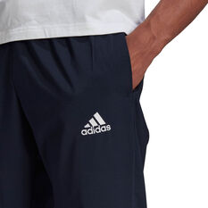 adidas Mens Tapered Stanford Pants, Navy, rebel_hi-res