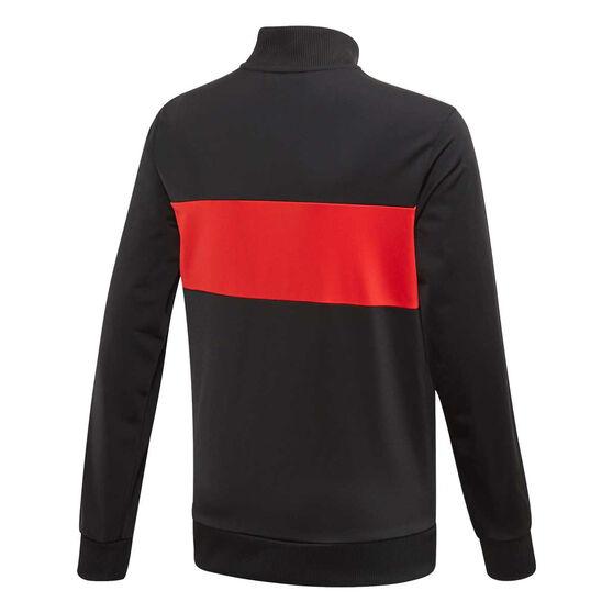 adidas Boys Tiberio Tracksuit, Black / Red, rebel_hi-res