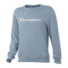 Champion Mens Script Sweatshirt Blue S, Blue, rebel_hi-res