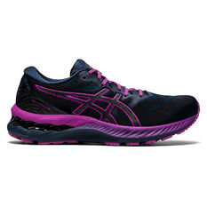 Asics GEL Nimbus 23 Lite Show Womens Running Shoes Blue/Silver US 6, Blue/Silver, rebel_hi-res