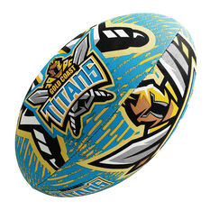 Steeden NRL Gold Coast Titans Supporter Rugby League Ball, , rebel_hi-res
