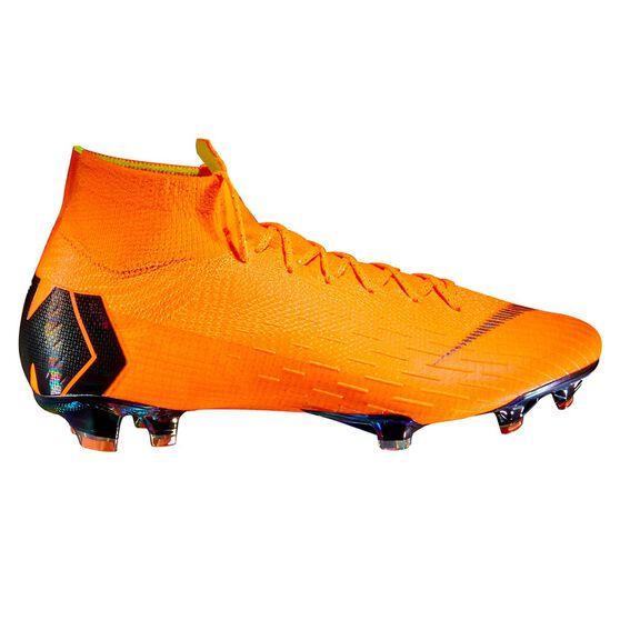 Nike Mercurial Superfly VI Elite Mens Football Boots Orange / Black US 7.5 Adult, Orange / Black, rebel_hi-res