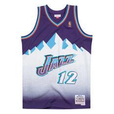 Utah Jazz Mens John Stockton 96/97 Swingman Purple S, Purple, rebel_hi-res