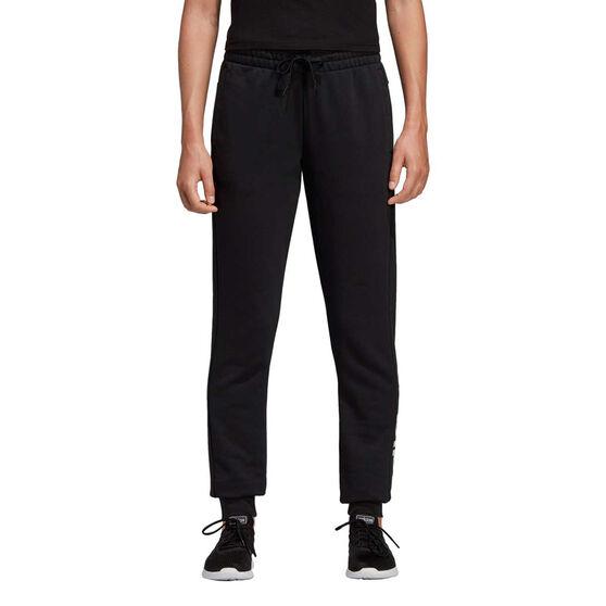 adidas Womens Essentials Linear Track Pants, Black, rebel_hi-res