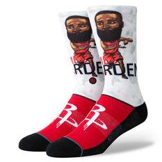 Stance Houston Rockets Harden Big Head Socks Red / Black M, Red / Black, rebel_hi-res