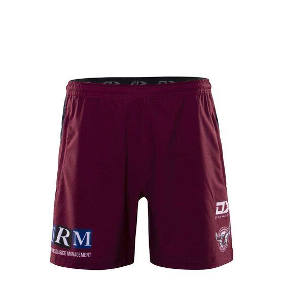 Manly Warringah Sea Eagles 2020 Mens Gym Shorts, Maroon, rebel_hi-res