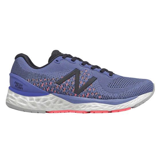 New Balance 880v10 D Womens Running Shoes, Purple/Red, rebel_hi-res