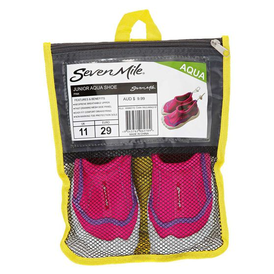 Seven Mile Junior Aqua Reef Shoes Pink US 13, Pink, rebel_hi-res
