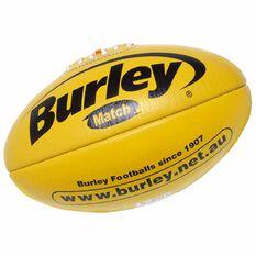 Burley AFL Match Australian Rules Ball Yellow 3, Yellow, rebel_hi-res