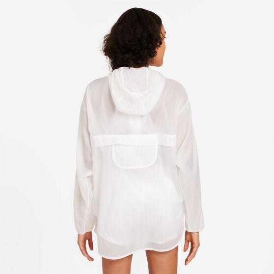 Nike Womens Run Division Packable Running Jacket, White, rebel_hi-res