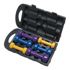 Celsius 10kg Dipped Dumbbell Set, , rebel_hi-res