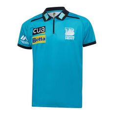 Brisbane Heat 2019/20 Mens Media Polo Teal S, Teal, rebel_hi-res