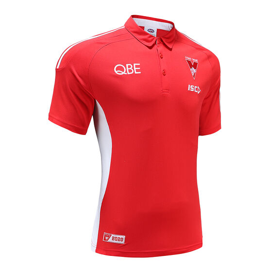 Sydney Swans 2020 Mens Media Polo, , rebel_hi-res
