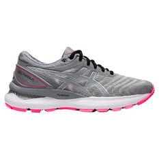 Asics GEL Nimbus 22 Lite Show Womens Running Shoes Grey US 6, Grey, rebel_hi-res