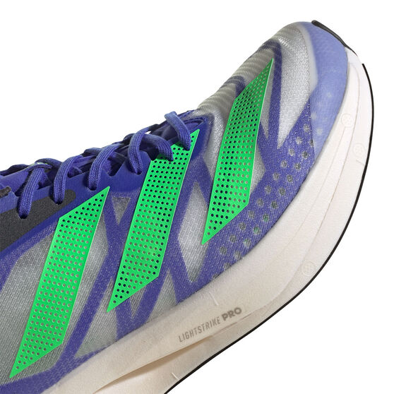 adidas Adizero Adios Pro 2.0 Mens Running Shoes, Blue/Green, rebel_hi-res