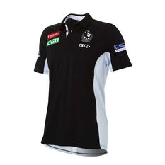 Collingwood Magpies 2018 Mens Black Polo Shirt, , rebel_hi-res