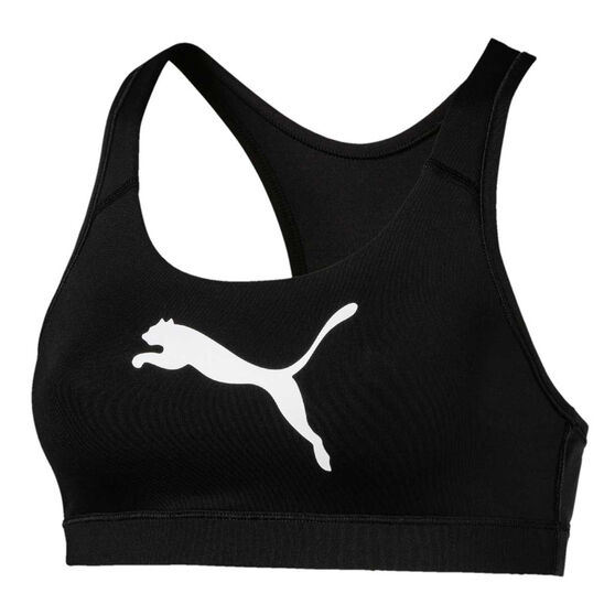 Puma Womens 4Keeps Sports Bra Black XS, Black, rebel_hi-res
