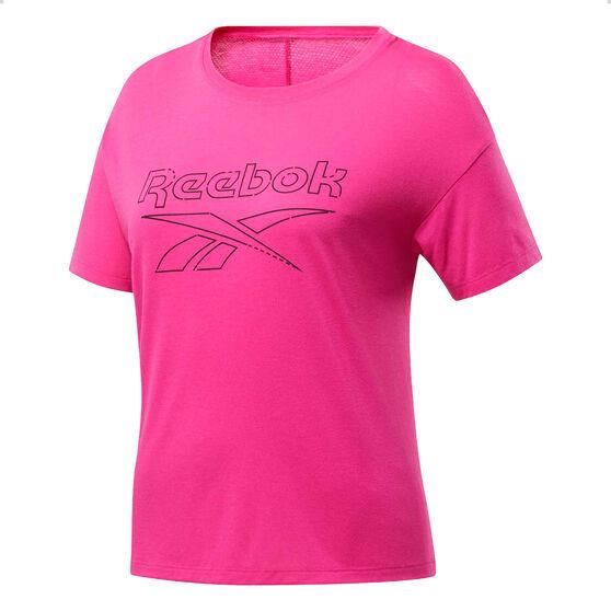 Reebok Womens Workout Ready Supremium Tee, Black, rebel_hi-res